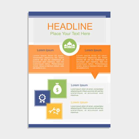 blank magazine: Fresh New Transparent Proposal Vector illustration.