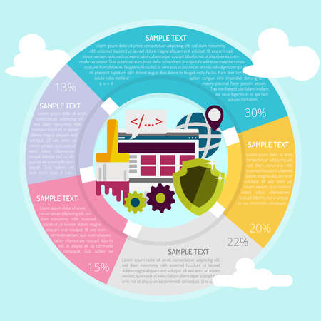 Web Development Infographic Vector illustration.
