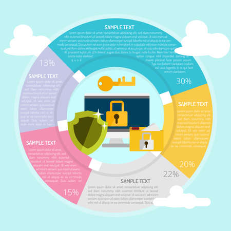 Confidential Information Infographic Vector illustration.