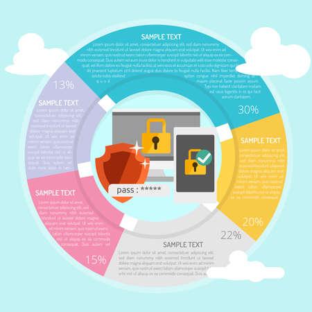 Security Infographic Vector illustration. Stok Fotoğraf - 86321803