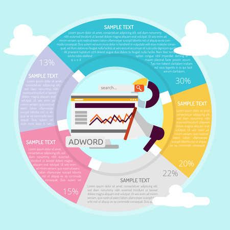 Adword Campagne Infographic Stock Illustratie