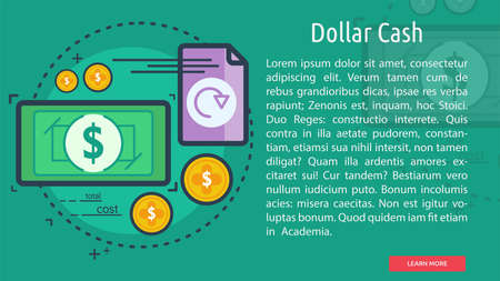 Dollar Cash Conceptuele Banner Stock Illustratie