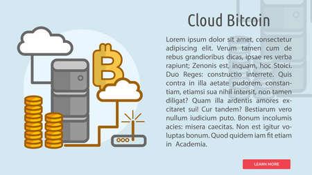 Cloud Bitcoin Conceptual Banner