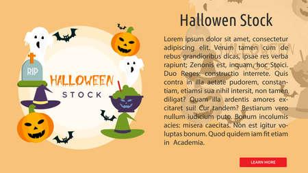 Hallowen Stock Conceptual Banner 向量圖像