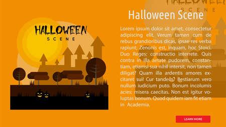 Halloween Scene Conceptual Banner