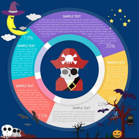 Pirate Diagram Infographic Ilustração