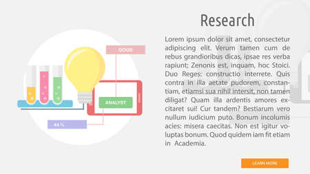 Research conceptual banner.
