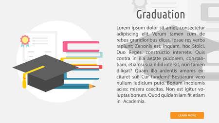 Graduation conceptual banner.