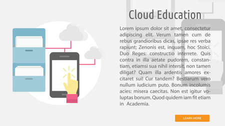 Code learning conceptual banner. Illustration