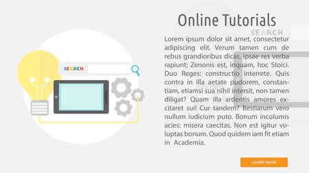 Online tutorials conceptual banner.