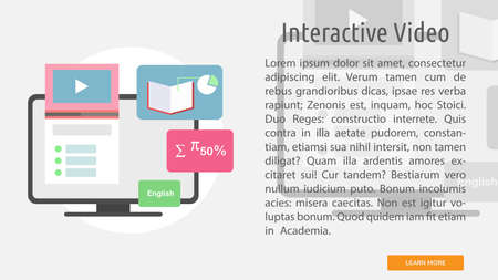 Interactive video conceptual banner.
