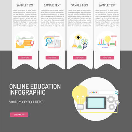 E-Learning And Online Education Royalty Free Cliparts, Vectors, And