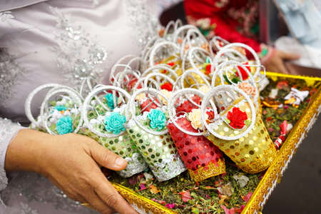 Wedding Party with Flower Decoration | Gift Box, Gift for Married Imagens