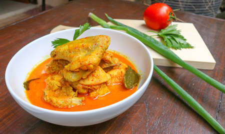 Chicken Curry, Culinary   Indonesian Food Stock Photo