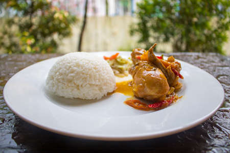 Chicken Soy Sauce with RIce, Chicken Food, Indonesian Food   Asian Food