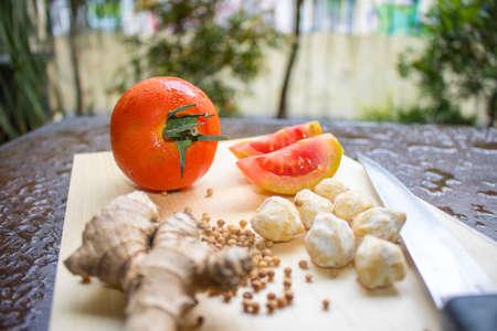 Cocinar especias, verduras, comida indonesia | Comida asiática