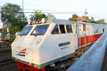 Station of Indonesian, Train of Indonesian, Train Transportation, Train on rail, Jogja City | Train of Asian