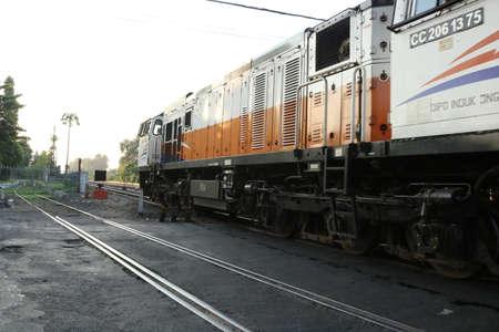 Station of Indonesian, Train of Indonesian, Train Transportation, Train on rail, Jogja City | Train of Asian