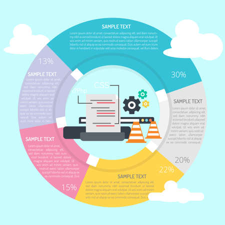 Website Maintenance Infographic Diagram