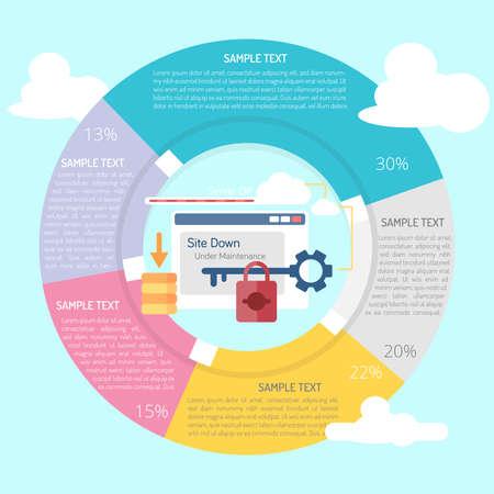 Website Down Infographic Diagram