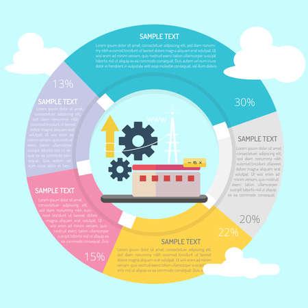 Setting Up Server Infographic Diagram vector Illustration