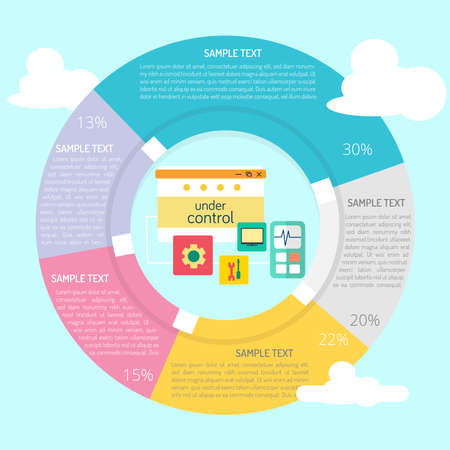 Website Under Control Infographic Diagram vector Illustration