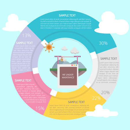 We on Vacation Infographic Diagram Illustration
