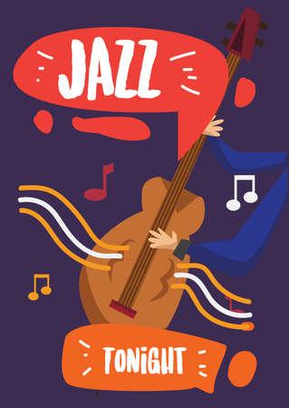 Affiche de musique jazz Banque d'images - 93137260