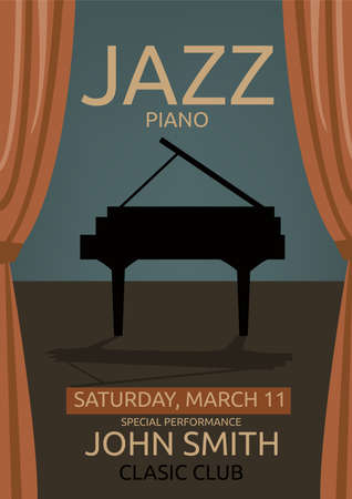 jazz music concert poster template vector royalty free cliparts