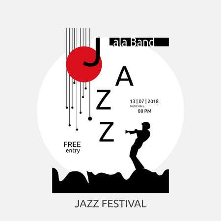 Jazz Festival  banner design 矢量图像