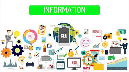 Information illustration Stock Illustratie
