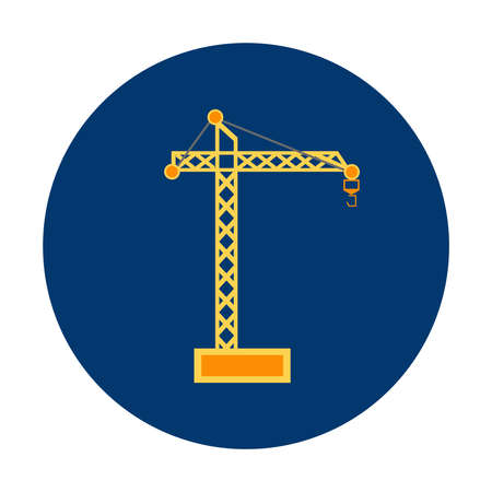 Tower Crane icon Illustration
