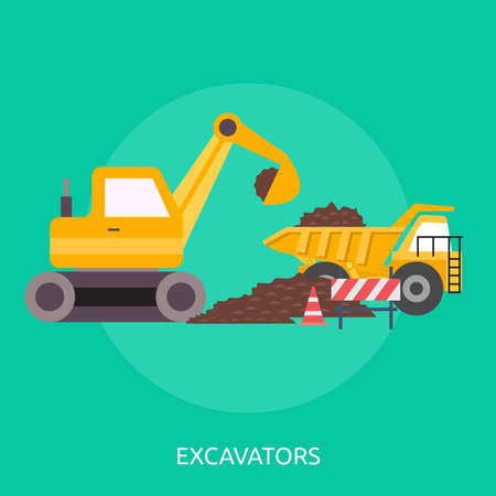 Excavator Stock Illustratie