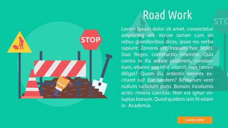 Road Work Conceptual Design Çizim