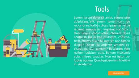 Tools Conceptual Design like ladder and drills Foto de archivo - 96594013