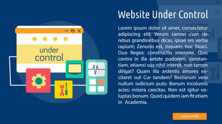 Website Under Control Conceptual Design with calculator and wrench