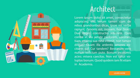 Architect Conceptual Design with architect and rulers