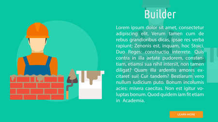 Builder laying bricks Conceptual Design