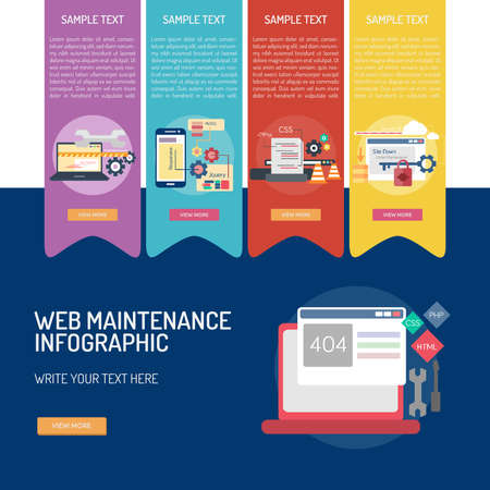 Web maintenance leaflet design