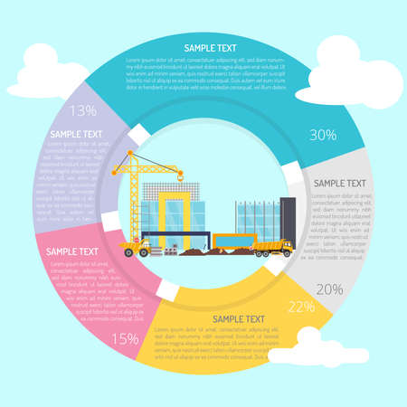 Building Construction Infographic Diagram