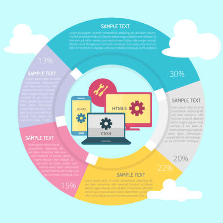 Web Element Infographic Diagram Illustration