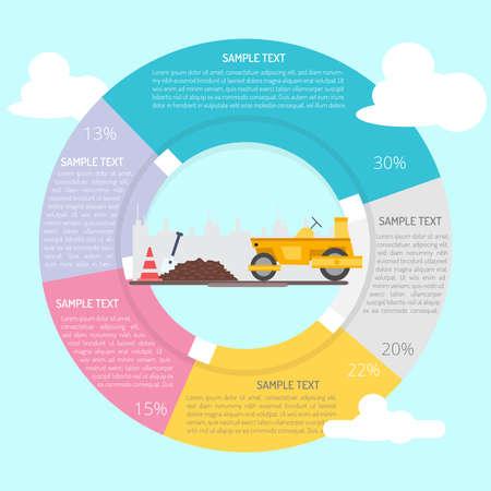 Road Construction Infographic Diagram