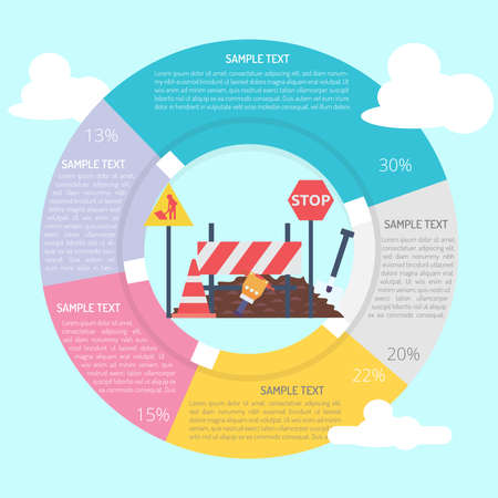 Road Work Infographic Diagram