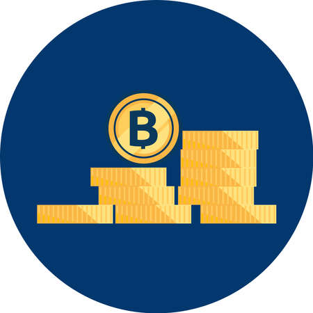 Bitcoin Cryptocurrency icon Vector illustration.