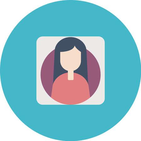 Avatar Female icon Vector illustration. Illustration