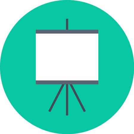 Board icon in green circle Vector illustration.