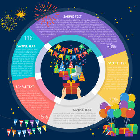Birthday Gift Giving Infographic Diagram