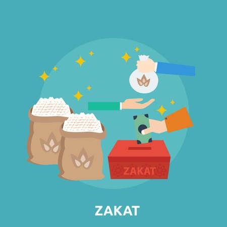 Zakat Conceptual Design Illustration