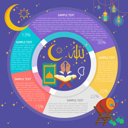 Ramadhan Pray Infographic Diagram Ilustração