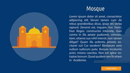 Mosque icon illustration.